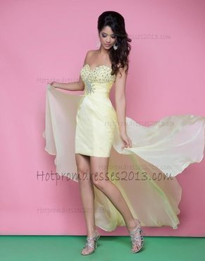 Sweetheart Light Yellow Fuschia High Low Sequin Homecoming Dress [High Low Sequin Homecoming Dress] - $176.00 : Discount Dresses for Prom 2013,Up 50% Off | generous | Scoop.it
