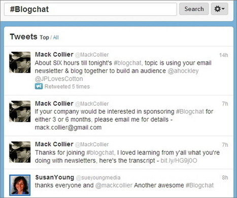 5 Twitter Chats for Bloggers | BloggingPro | Public Relations & Social Media Insight | Scoop.it