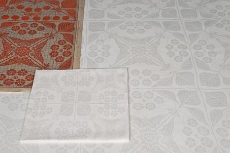 Art Nouveau damast | TextielMuseum | Scoop.it