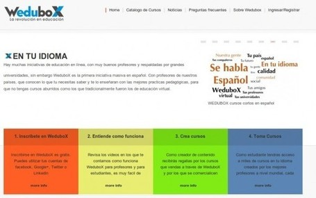 Wedubox – 1.200 docentes creando cursos online en español | e-Xploration | Scoop.it