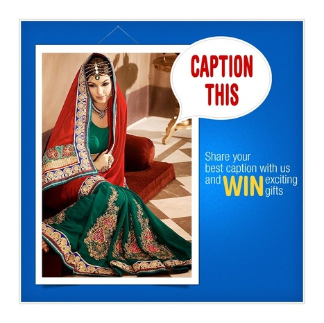 Sareez India Launches The Much Awaited Caption Contest | sareez | Scoop.it