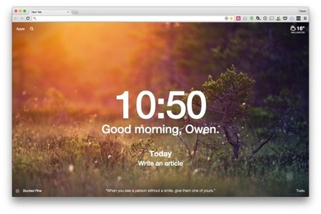 8 Great Chrome Extensions to Transform your 'New Tab' Page | CRSD Top Picks | Scoop.it