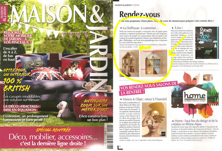 Maison & Jardin - La Dollhouse à customiser | Relations Presse | Imagypress | Scoop.it