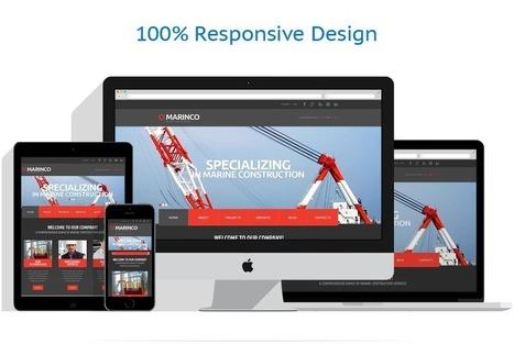 Industrial Responsive Website Template #48095 | Stainless Beat | Scoop.it