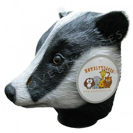 Animal Overhead Mask - Badger ( Latex ) | Quality Party Wigs - Masquerade-Carnival.co.uk | Scoop.it