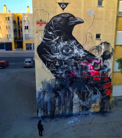 "New work by L7m - ""Guardian of the Forgotten"" in Loures, Portugal 