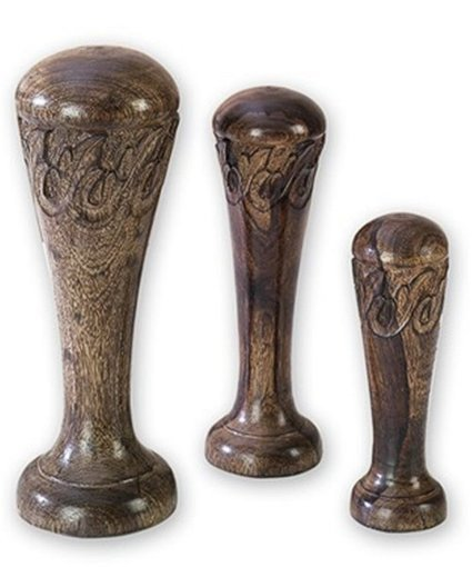 Uma Enterprises Set Of 3 Hand Carved Decorative Wooden Finial | Home - Office Accessories | Scoop.it