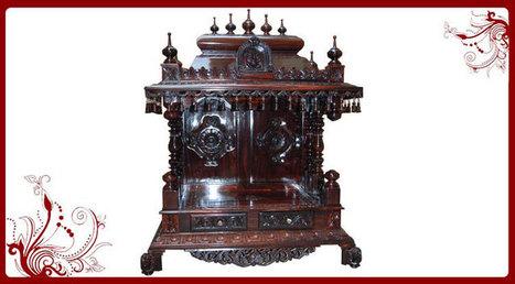 Rosewood Home Temple for Sale | Rosewood Temple Price | Pooja Mandir | Puja Mandir, Wood Temple, Home Temple-Poojamandir.com | Scoop.it
