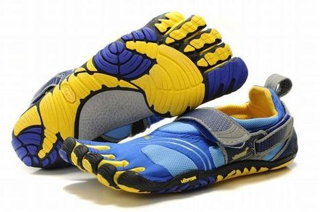 women s komodosport five fingers blue yellow grey shoes | popular collection | Scoop.it