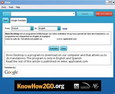 Dixio Desktop: Utiliser google traduction sur son bureau   Time to Learn   Scoop.it