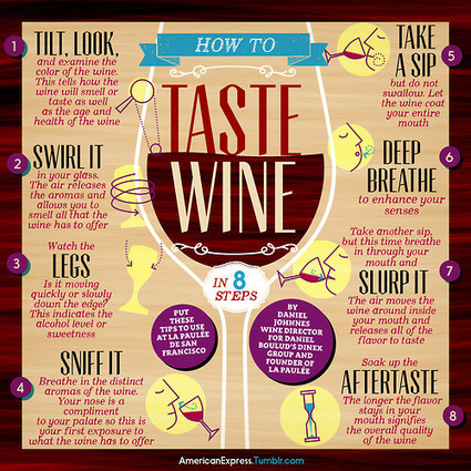 How to Taste Wine in 8 Steps infographic | Politically Incorrect | Scoop.it
