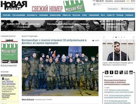Russie: le journal d'opposition Novaïa Gazeta menacé de fermeture | DocPresseESJ | Scoop.it