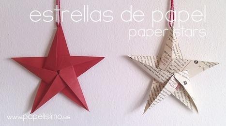 Cómo hacer estrellas de papel cinco puntas para el árbol de Navidad | Con tus propias manos - Lola | Scoop.it