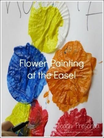 Flower painting at the easel   Teach Preschool   Scoop.it