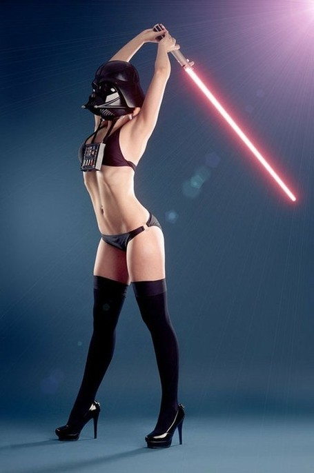 Hot Female Darth Vader Stretches with a Lightsaber [pic] | Amazing Views | Scoop.it