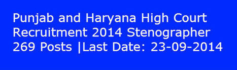 Punjab and Haryana High Court Recruitment 2014 | Apply Online | www.latestjobsopening.com | Scoop.it