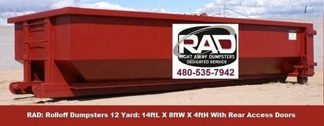 12 Yard Roll-Off Dumpster Rentals Mesa AZ RAD | Dumpster Rentals | Scoop.it