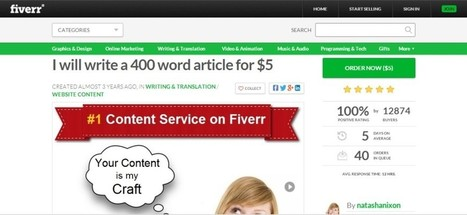 Freelance Opportunity Spotlight : Fiverr - Online Profit Partners | Online Business Success | Scoop.it