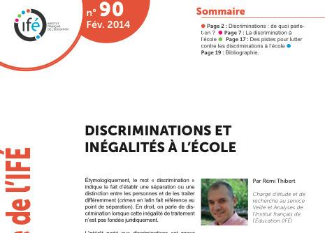 Discriminations et inégalités à l'école - Dossier Veille et Analyses de l'ifé | Discriminations à l'école | Scoop.it