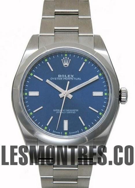Suisse Replique Rolex Oyster Perpetual 39mm 114300 cadran bleu | replique montres pas cher | Scoop.it