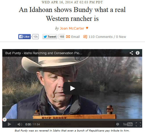 "VIDEO: ""An Idahoan shows Bundy what a real Western rancher is"" 