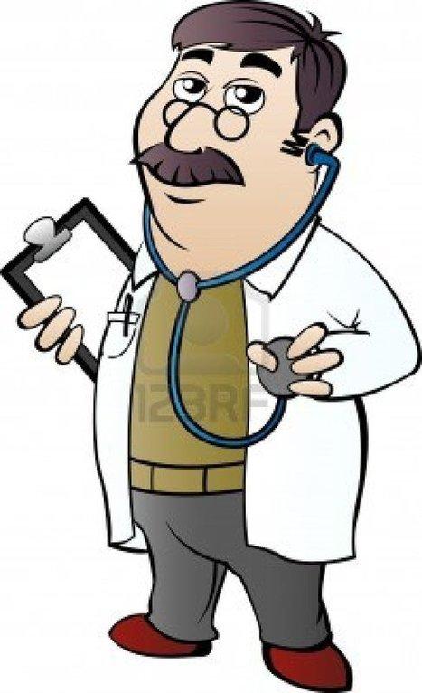 12830994-medico-con-el-estetoscopio-en-el-estilo-de-dibujos-animados.jpg (732x1200 pixels) | medicina | Scoop.it