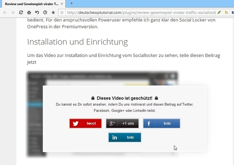 Review und Gewinnspiel: viraler Traffic durch Social Locker vs. Share per View | Olaf Weiland Internetmarketing Blog | Scoop.it