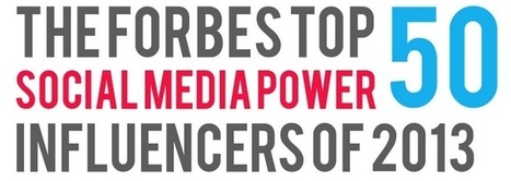 Forbes Top 50 Social Media Power Influencers of 2013 [INFOGRAPHIC] - Sefton Media | Social Media in Education and Training | Scoop.it