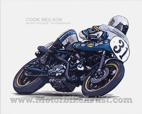 Ducati Art | Cook Neilson 31 Ducati Old Blue 750SS motorcycle | ernyoung | Ductalk Ducati News | Scoop.it