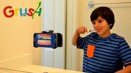 Grush toothbrush uses gaming to improve your child's dental hygiene - Gizmag | Dental | Scoop.it