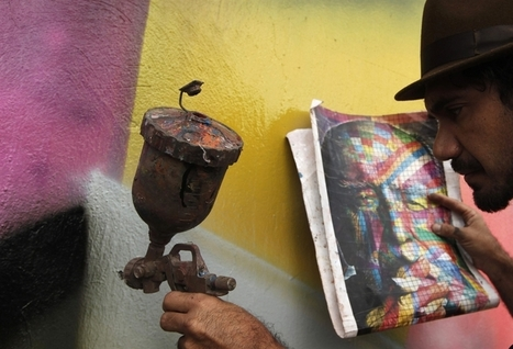 Eduardo Kobra Mural Tribute to Architect Oscar Niemeyer | art move | Scoop.it