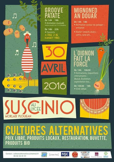Morlaix (Lycée Suscinio). Samedi 30 avril. Cultures Alternatives : Retrouvez-y le Pays de Morlaix ! | Pays de Morlaix | Pays de Morlaix | Scoop.it