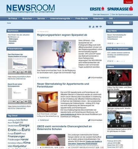 Newsroom der Erste Bank und Sparkassen | Social Media Newsrooms | Scoop.it
