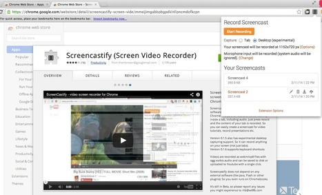 ScreenCastify. Enregistrer des screencasts depuis Chrome - Les Outils Google | Tice et C2i2eM2 | Scoop.it