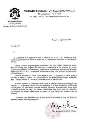 Condamnation définitive du père Mansour Labaky   L'Eglise Maronite et les affaires de pédophilie   Scoop.it