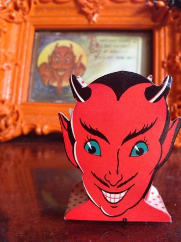 Vintage cardboard halloween devil nut cup | Antiques & Vintage Collectibles | Scoop.it