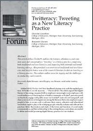 Twitteracy: Tweeting as a New Literacy Practice | Educación y redes sociales | Scoop.it