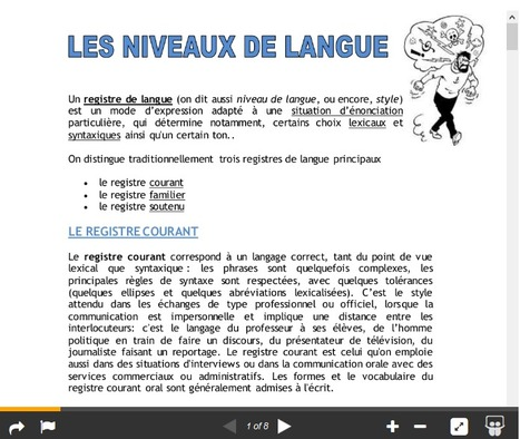 Les niveaux de langue | Ressources en FLE | Scoop.it