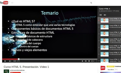 Completo curso gratuito de HTML5 en 73 vídeos | e-learning y moodle | Scoop.it