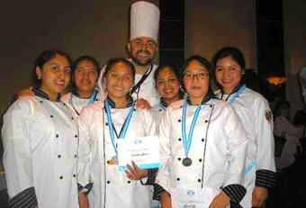 Escuela culinaria Zinil Gana competencia Juinior chef 2012