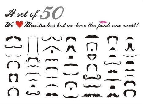 New free set of 50 moustache vectors! | pinkmoustache.net | vector stories | Moustaches | Scoop.it