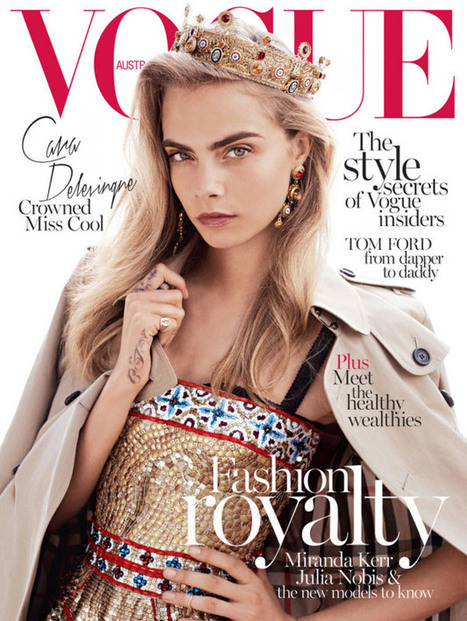 Cara Delevingne Wears the Crown for Vogue Australia's October 2013 Cover | Fashion Interests | Scoop.it