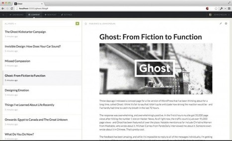 Ghost Is Bringing Blogging Back From the Dead | Blogging Tips | Scoop.it
