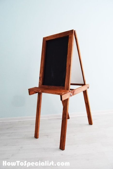 How to build a folding kids chalkboard easel | HowToSpecialist - How to Build, Step by Step DIY Plans | Garden Plans | Scoop.it