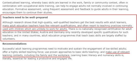How to help adult learners learn the basics  - EPALE - European Commission   Andragogy   Adult LEARNing   Pédagogie Universitaire & Pédagogies Actives   Scoop.it