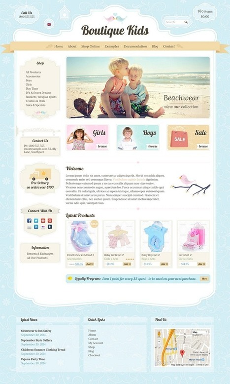 Boutique Kids Creative WordPress WooCommerce Theme - Download New Themes | Travel tips | Scoop.it