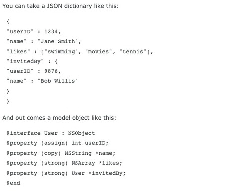 JAGPropertyConverter Automatic serialization/deserialization to/from JSON | iPhone and iPad development | Scoop.it