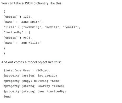 JAGPropertyConverter Automatic serialization/deserialization to/from JSON | Mobile Technology | Scoop.it