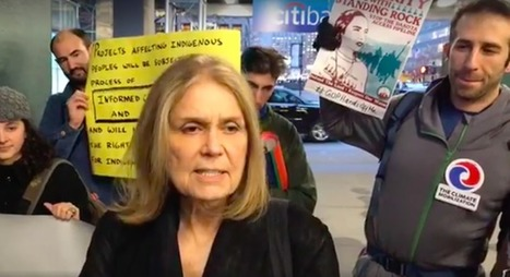 Gloria Steinem Joins Dakota Access Pipeline Protest to Call for Citibank Boycott | Fabulous Feminism | Scoop.it