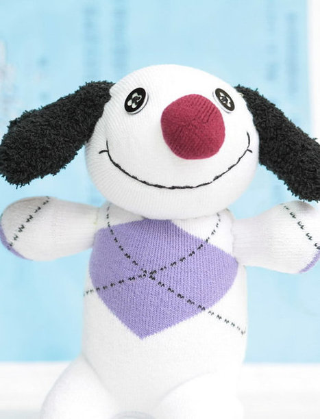 Handmade lucky dog stuffed animal stripe doll baby Home Decor toy soft doll | Crafts | Scoop.it
